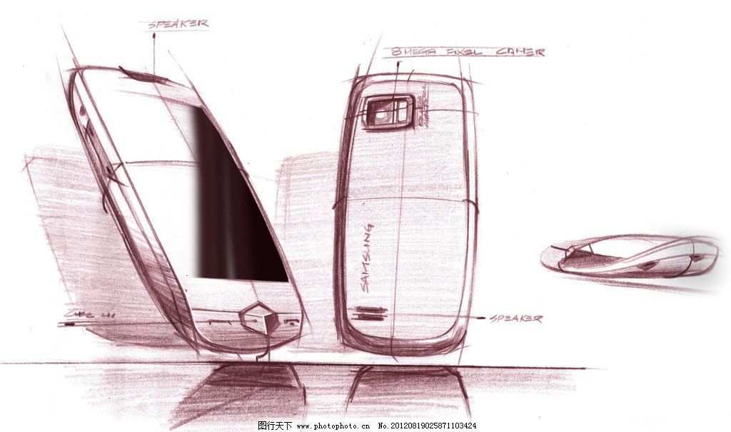 手机设计图 设计图 线描图 手绘图 手机 鼠标 电脑网络 生活百科 设