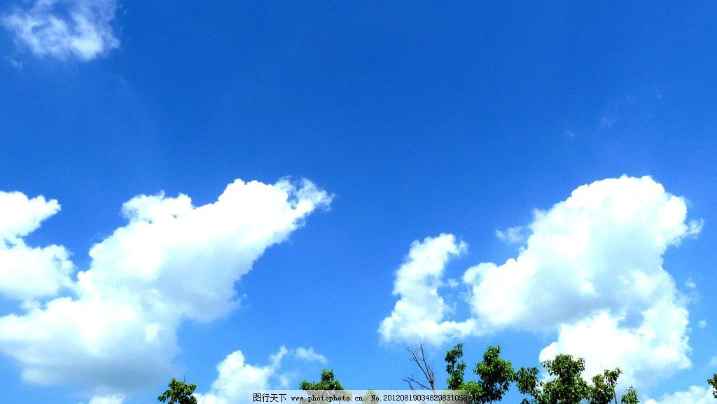 蓝天白云 上海的蓝天白云 朵朵白云 碧蓝的天空 动物形状的云 摄影