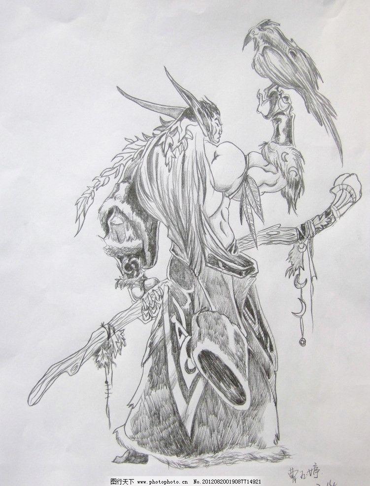 魔兽人物图片