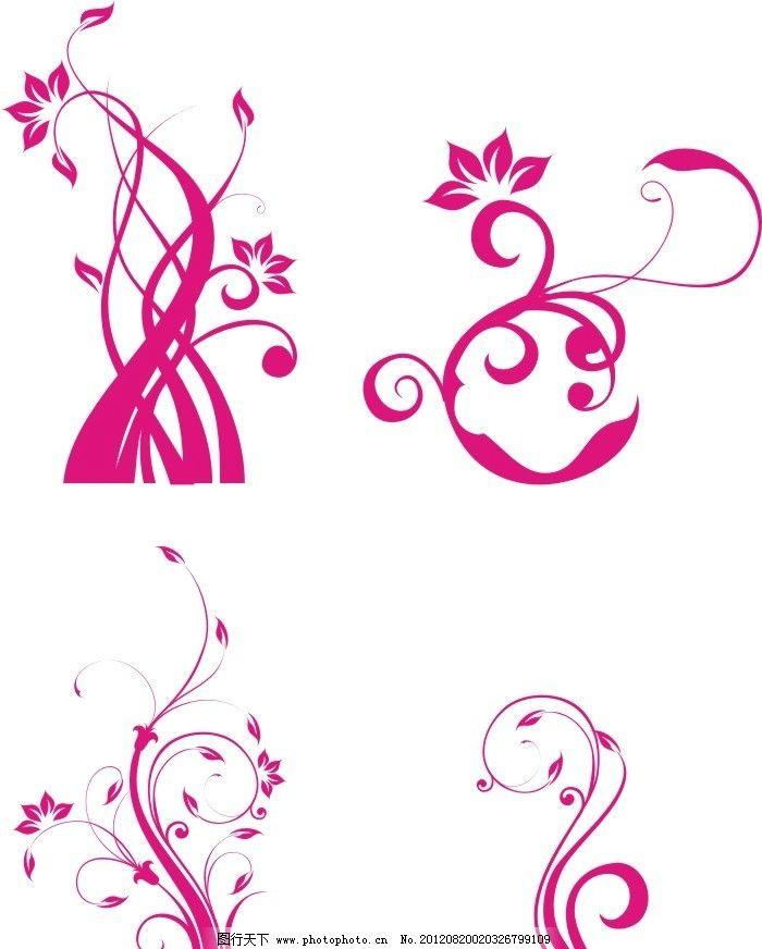矢量花纹 花纹 藤蔓 花 装饰 底纹 矢量 红色 线条 漂亮 好看的 边框