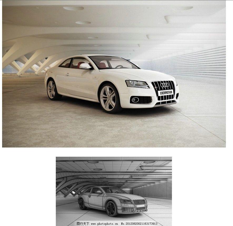 汽车室内场景模型图片_3d作品设计_3d设计_图行天下
