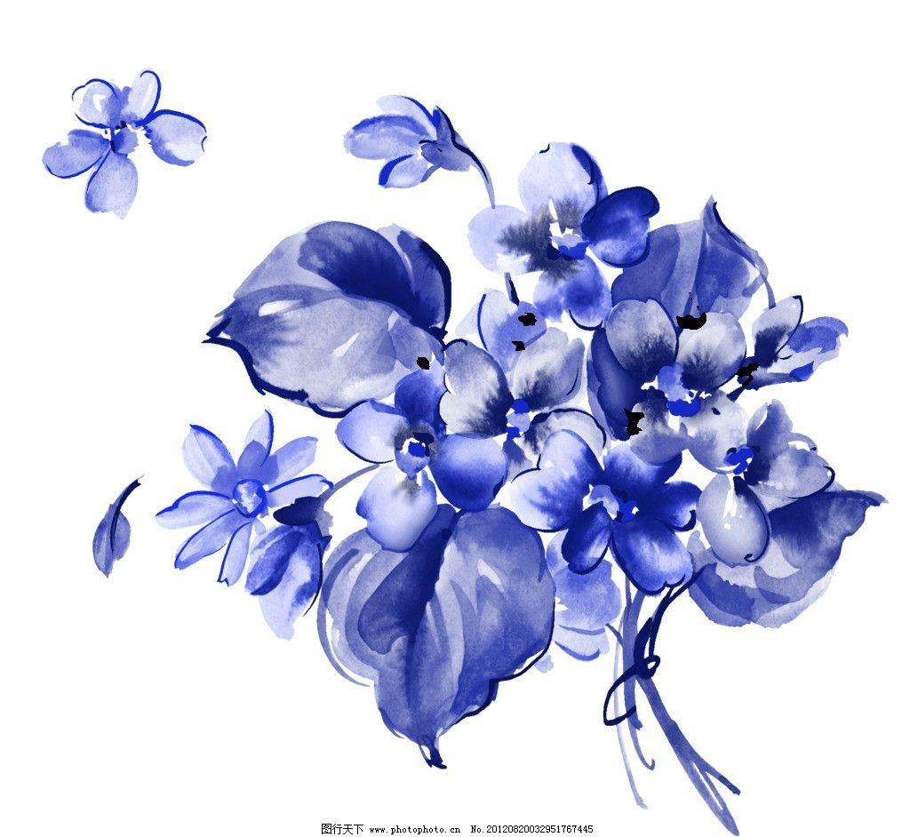 青花 青花瓷素材 底纹花纹 陶瓷花纹 陶瓷兰彩 花儿 牡丹 兰花 背景素