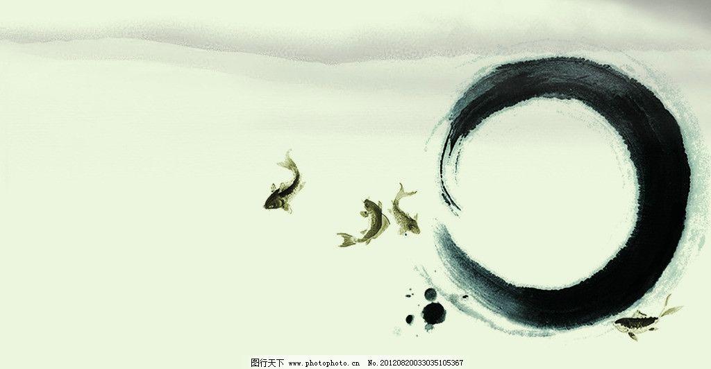 水墨画 水墨 荷花 蜻蜓 山水画 风景画壁画 风景 山水 背景画 山水