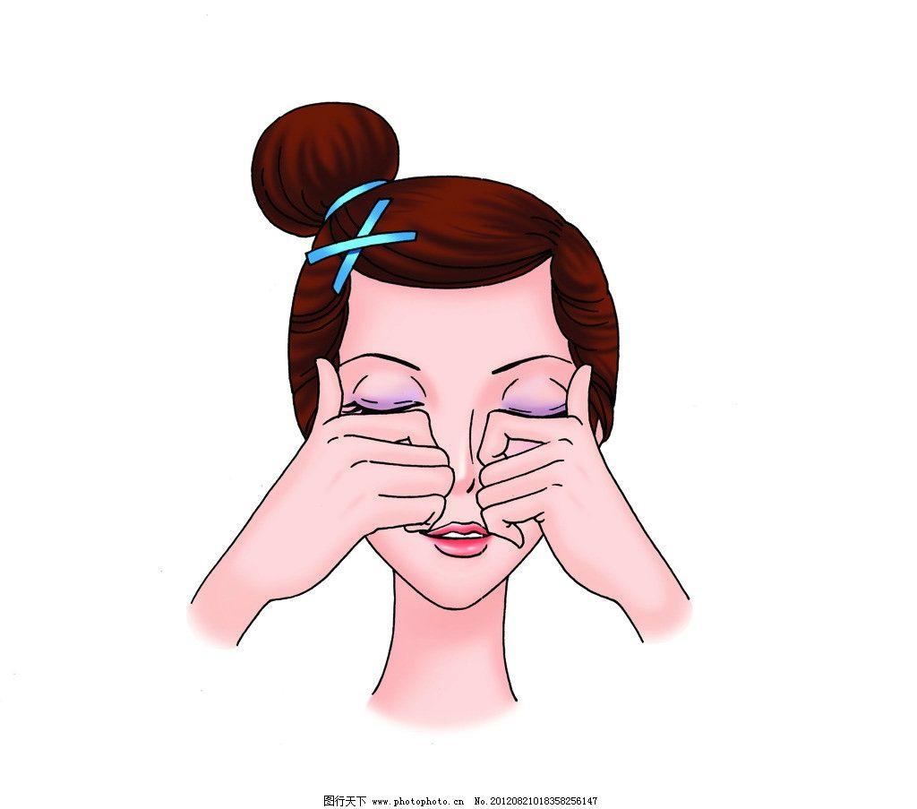 美容面部按摩图