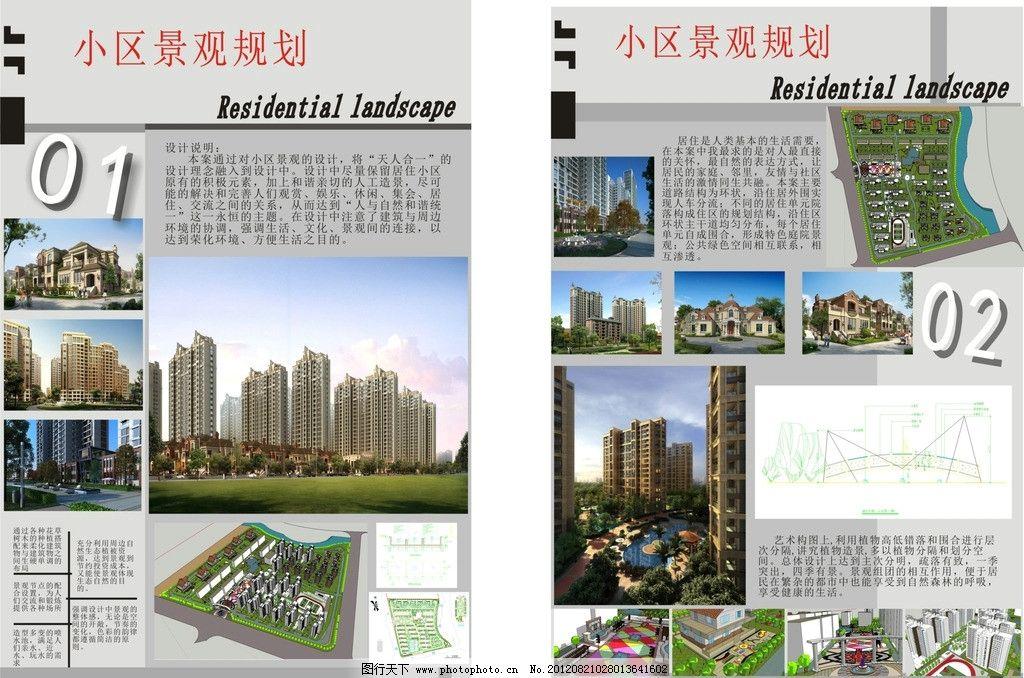 景观规划展板 景观规划 小区规划 环境艺术设计 毕业设计 景观建筑