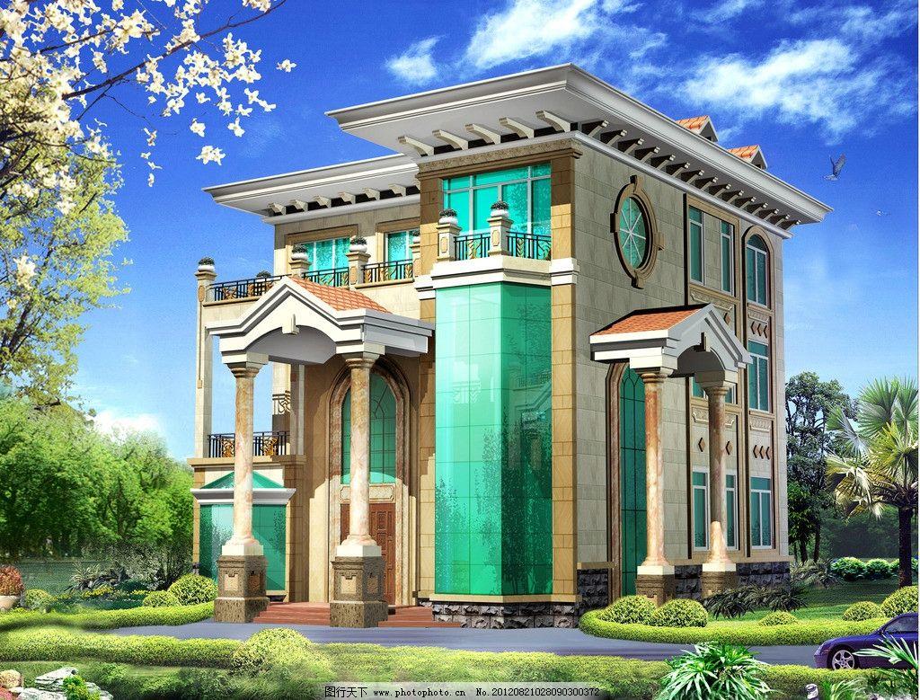 别墅外观设计图图片