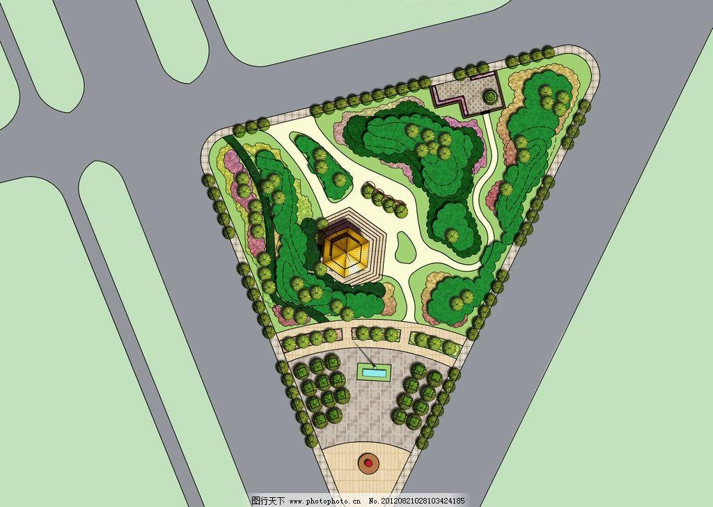 街道公园平面图图片_景观设计