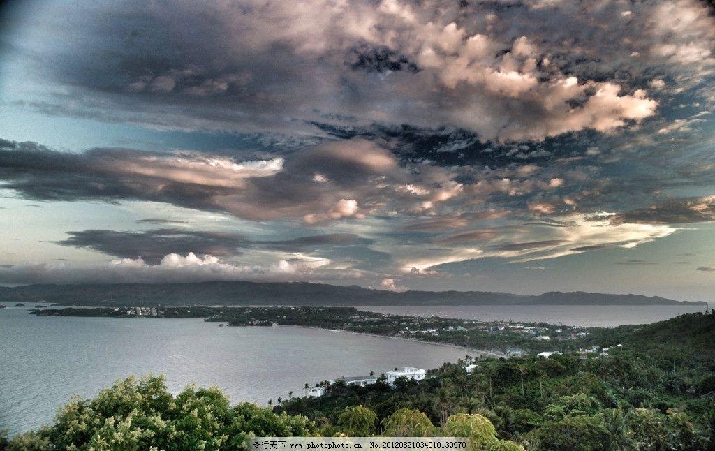 菲律宾长滩岛 海岛 祥云