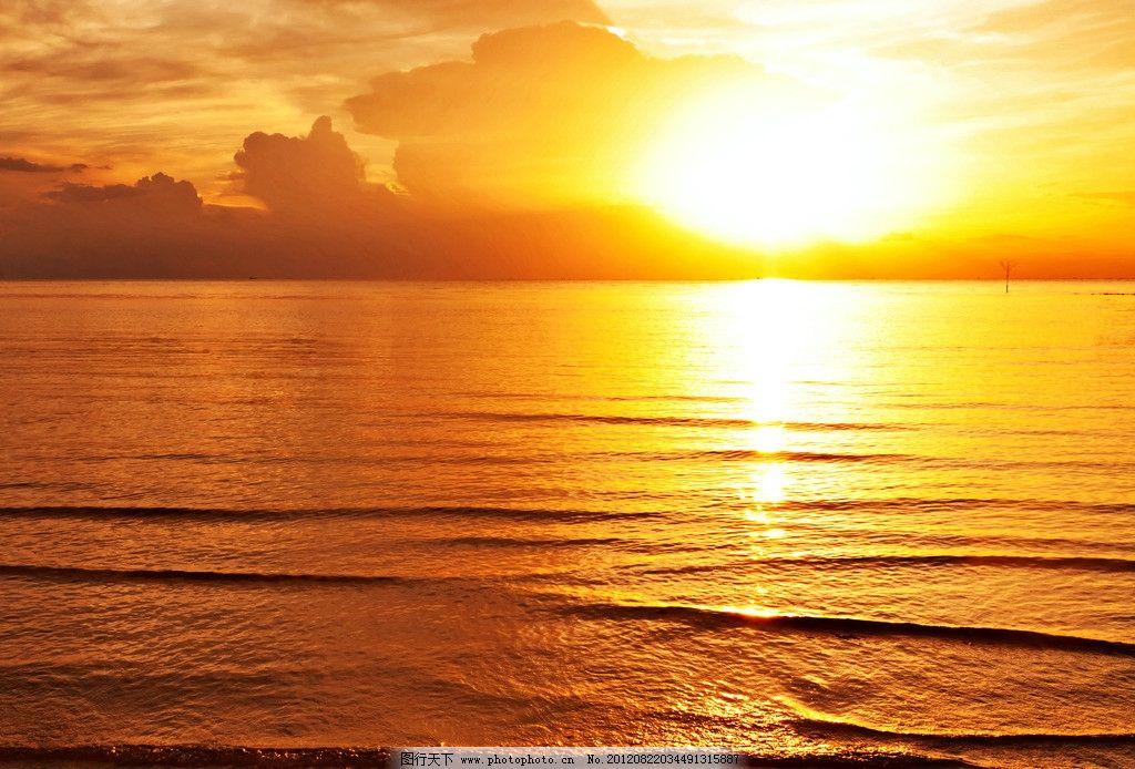 夕阳大海图片,水面 日出 海面 阳光 波光粼粼 摄影-图