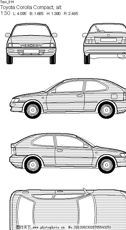 丰田汽车线框图图片