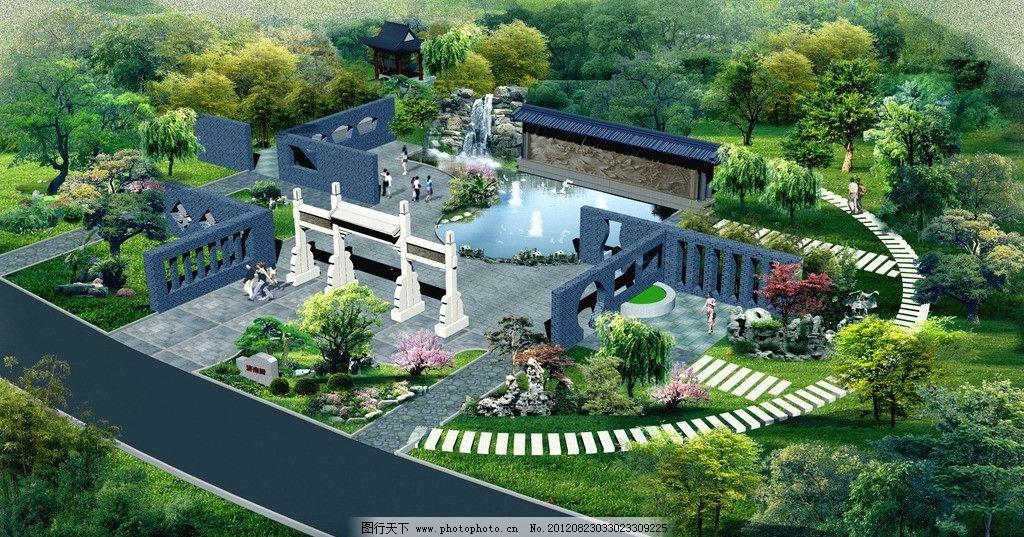 园林景门 大门景观 园林 景观 绿化 园林景观生态大门 景观设计 环境