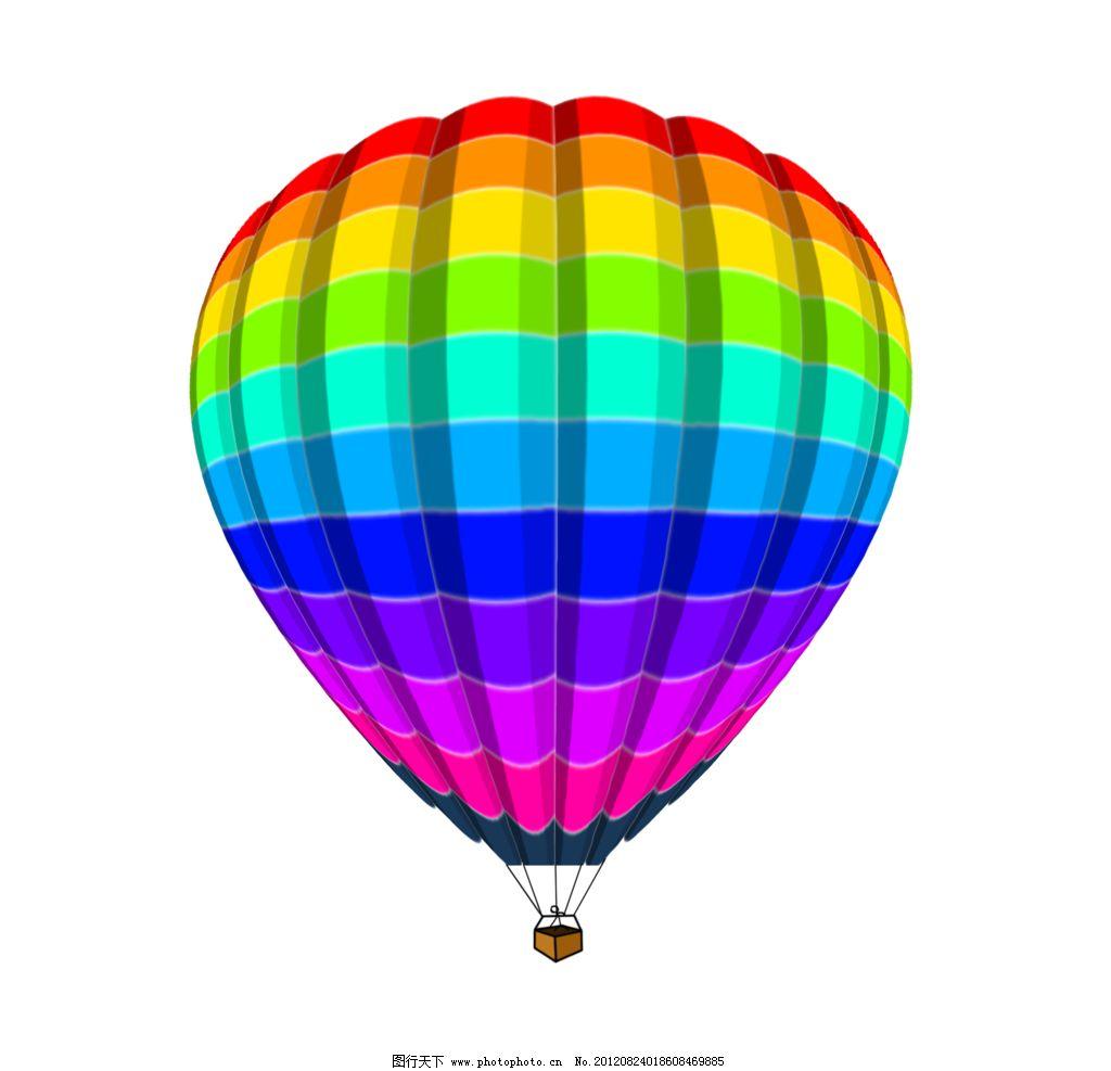 热图-彩色 热气球 卡通图片