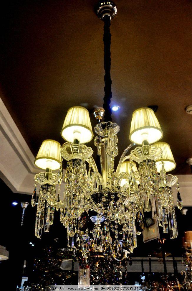 水晶灯 欧式水晶灯 灯具 灯 家居生活 生活百科 摄影 300dpi jpg