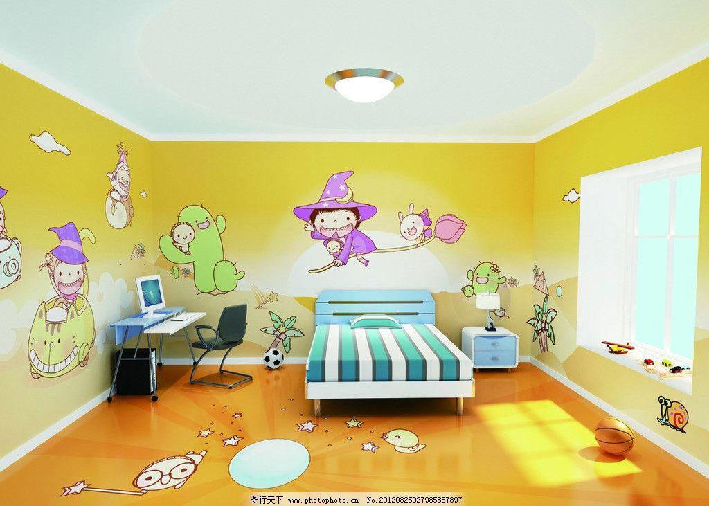 儿童可爱卧室图片