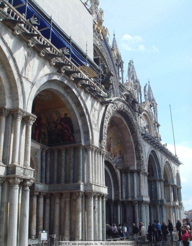 欧式建筑 拱门 罗马柱 蓝天白云 建筑摄影 建筑园林 摄影 72dpi jpg
