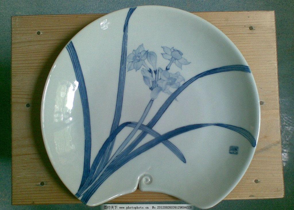 手绘陶瓷瓷盘图片