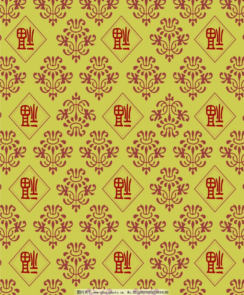 壁纸 墙纸 底纹 欧式底纹 花纹 福字 古典底纹 古典花纹 底纹边框