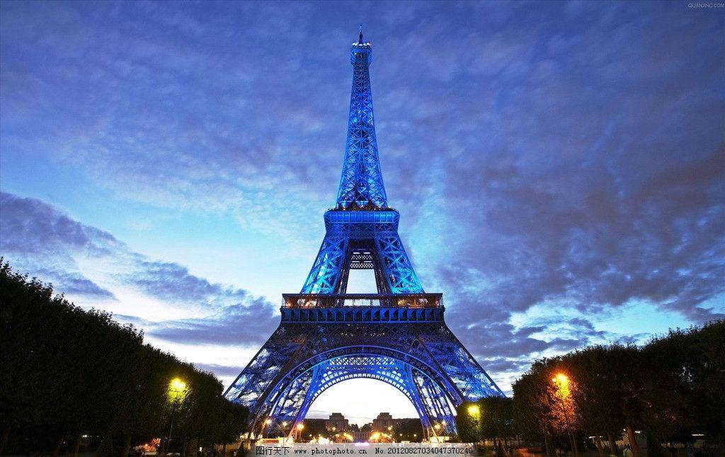 铁塔夜景 夜晚 埃菲尔铁塔