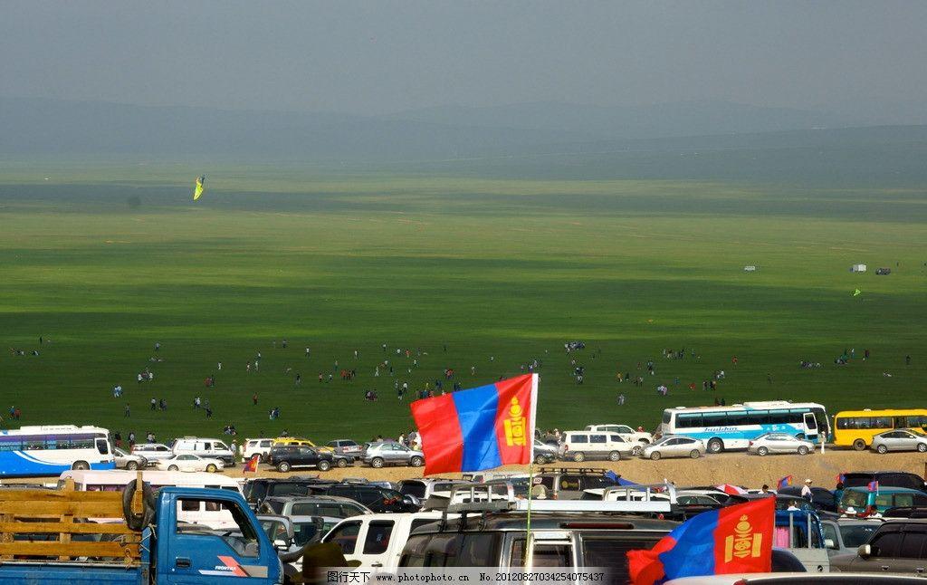 设计图库 现代科技 服装设计  蒙古国草原 蒙古国 草原 蓝天 白云