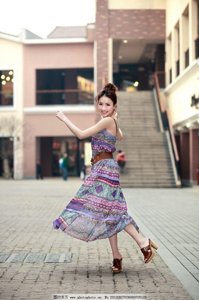 飘舞的裙子 长裙美女