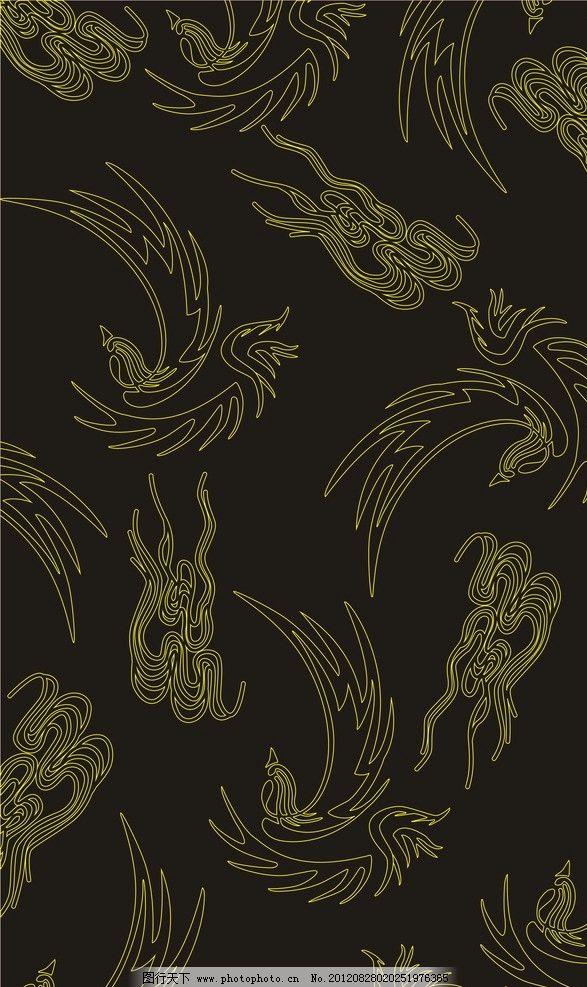 欧式竖版黑色带边框背景图