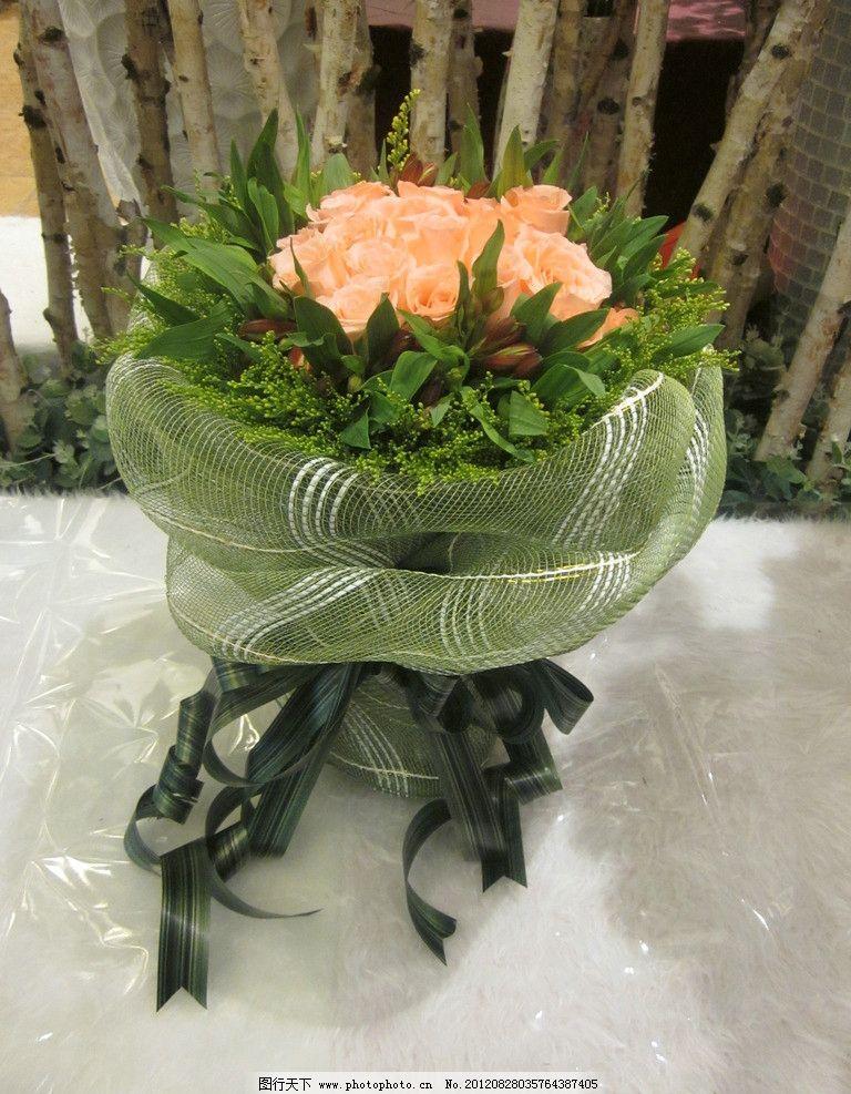韩式花束 香槟玫瑰 水仙百合