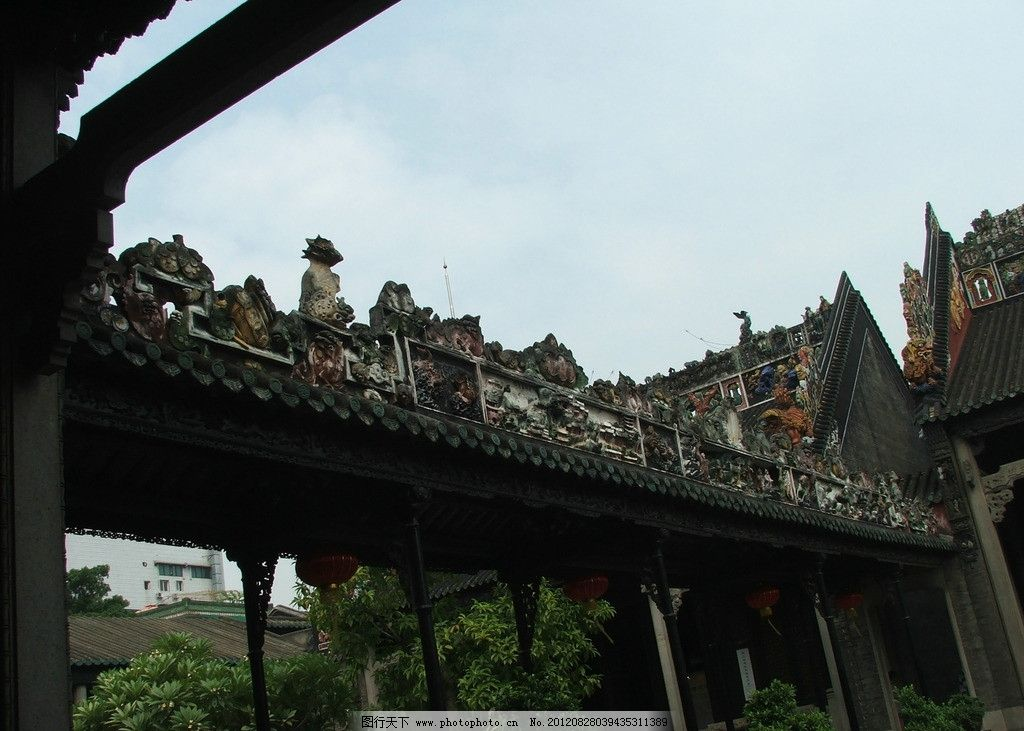 中国古建筑 复古建筑 古建筑 广州古建筑 陈家祠 建筑摄影 建筑园林