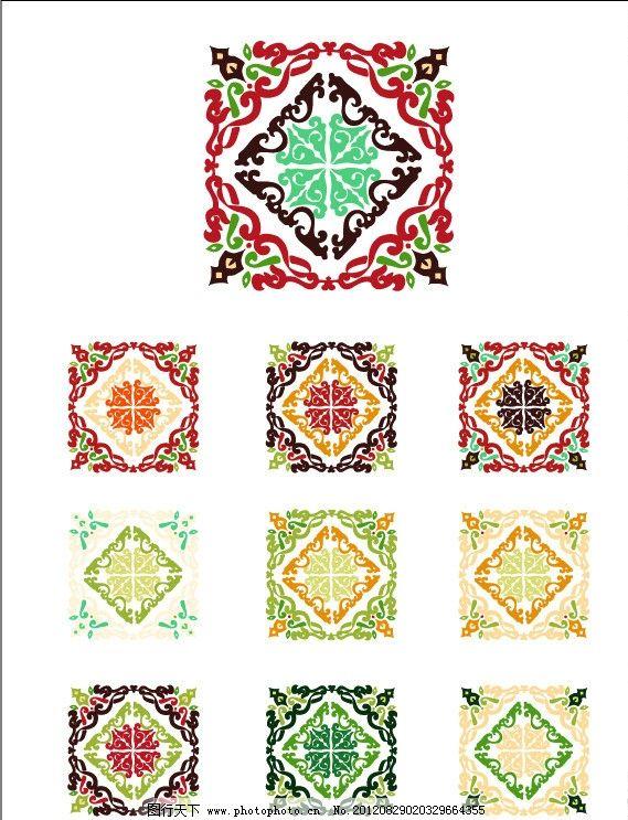 四方花纹 花纹 传统花纹 古典 古典花纹 布纹 布艺 时尚花纹 豪华