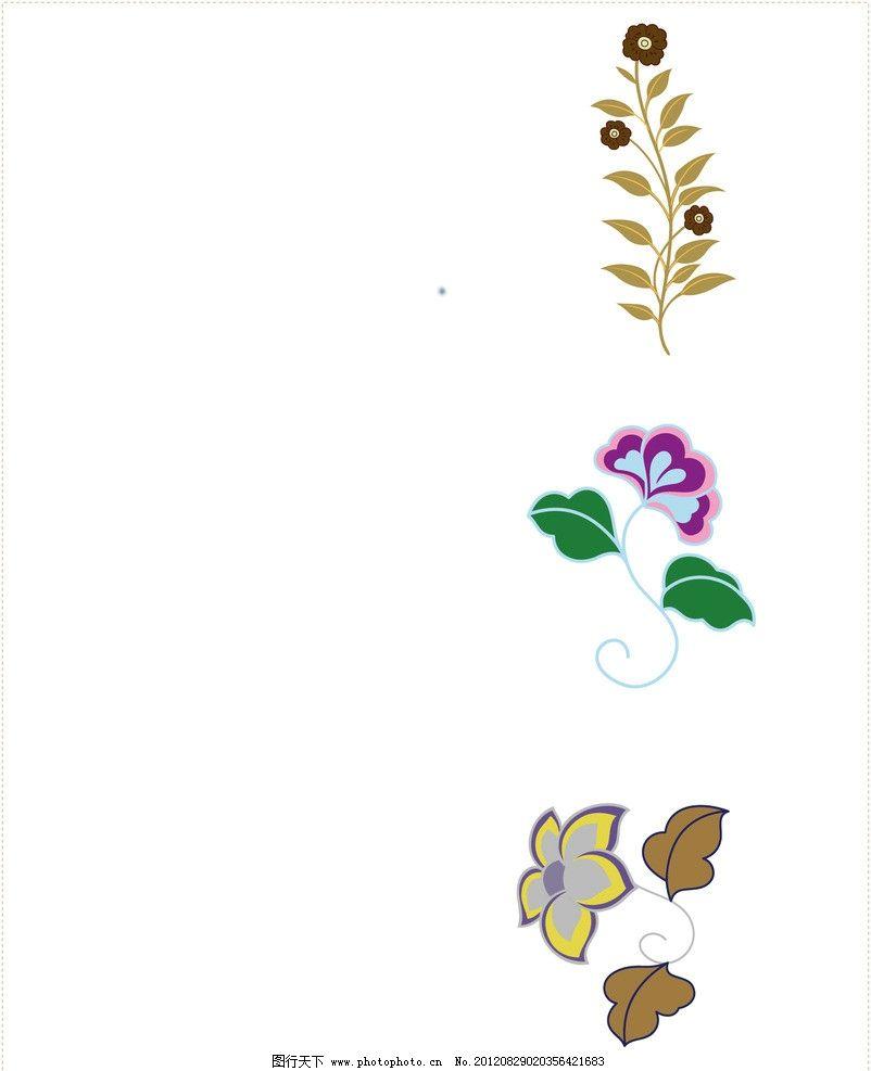 矢量花朵 底纹 花边 背景 淡绿色 清新 花纹花边 底纹边框 矢量 ai