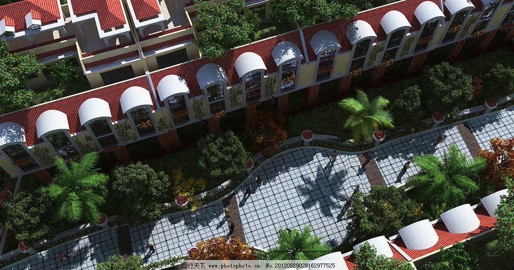 小区景观 地产 房地产 园艺 花园洋房 别墅        阳光 步梯房 景观