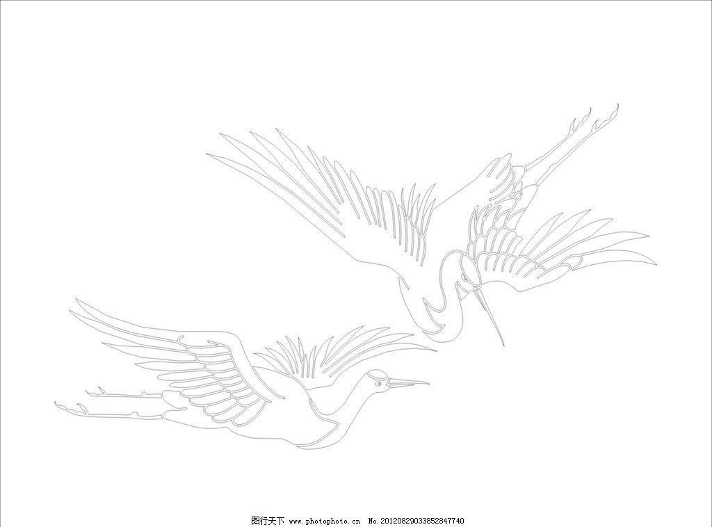 鹤的简笔画