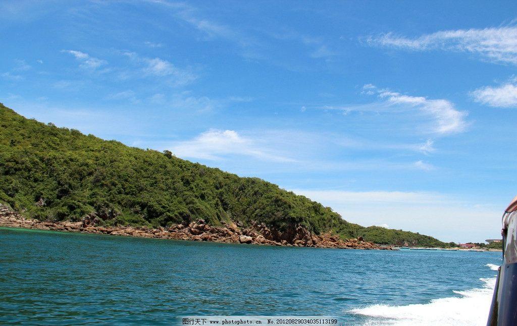 泰国风光 泰国风情 蓝天白云 天空 大海 海浪 海岛 国外旅游 旅游摄影