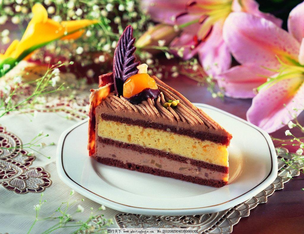 三角形小蛋糕簡筆畫