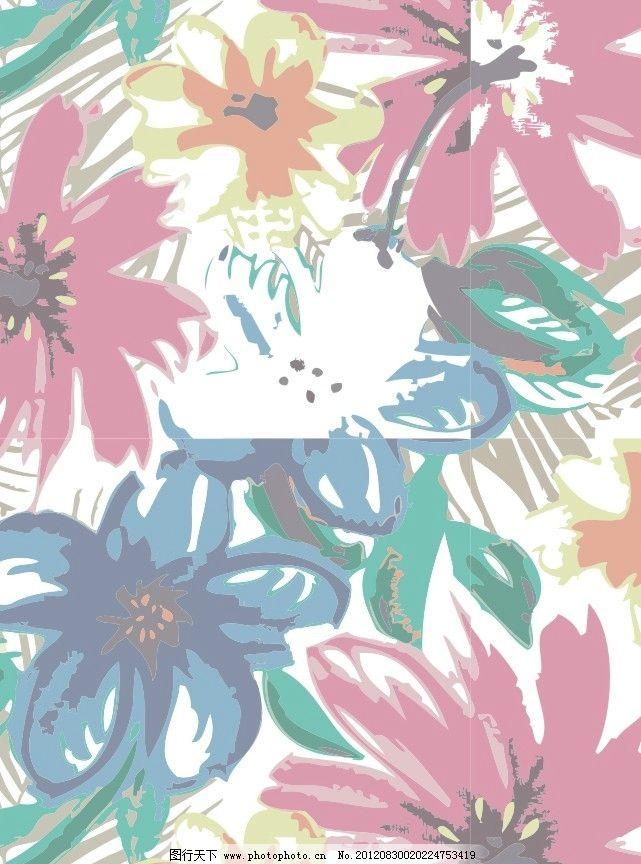 花朵 面料图案 可爱图案 大布图案 印花图案 满印图案 漂亮图案 花朵