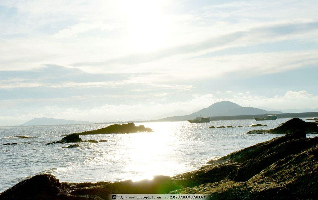 阳西夕阳 海边夕阳 大海夕阳 天空 晚霞 自然风景 自然景观 摄影