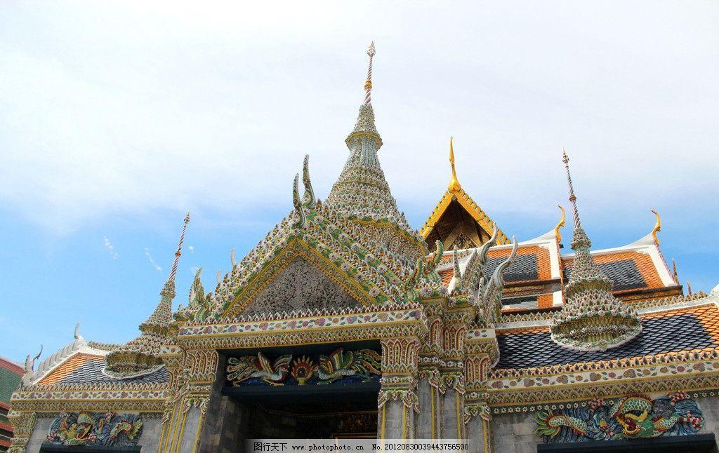 泰国风光 泰国风情 蓝天白云 天空 佛塔 寺庙 泰国建筑 建筑摄影 建筑