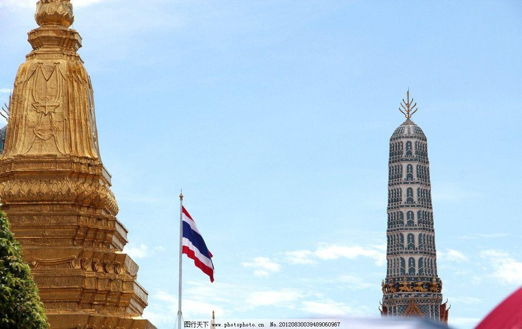 泰国风光 泰国风情 泰国建筑 蓝天白云 天空 佛塔 寺庙 建筑摄影 建筑