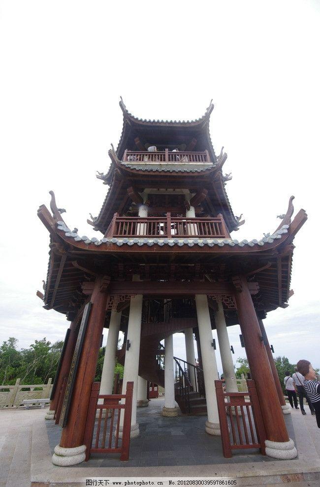 八角亭 古代建筑 三亚森林公园 园林建筑 建筑园林 摄影 300dpi jpg