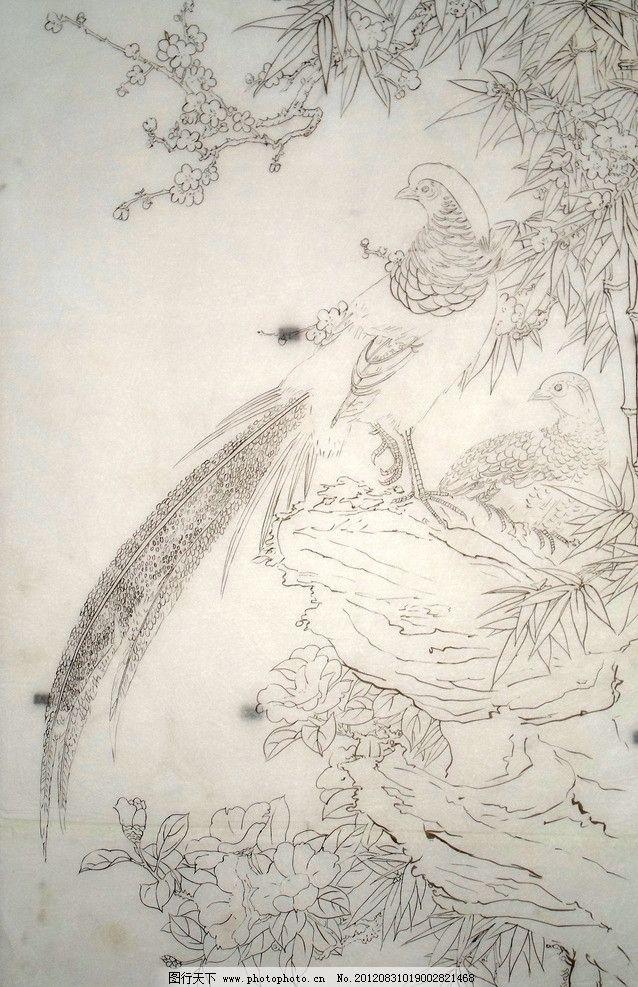 工笔画白描底稿图片