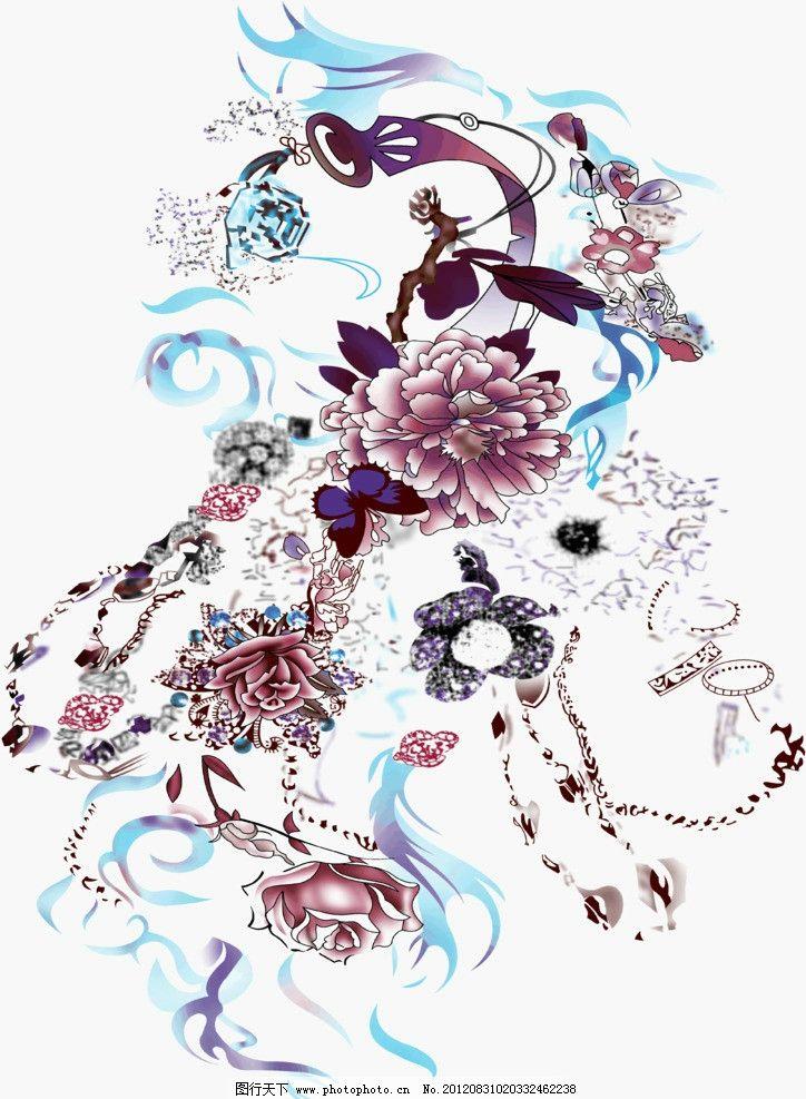 印花设计图 花边花纹