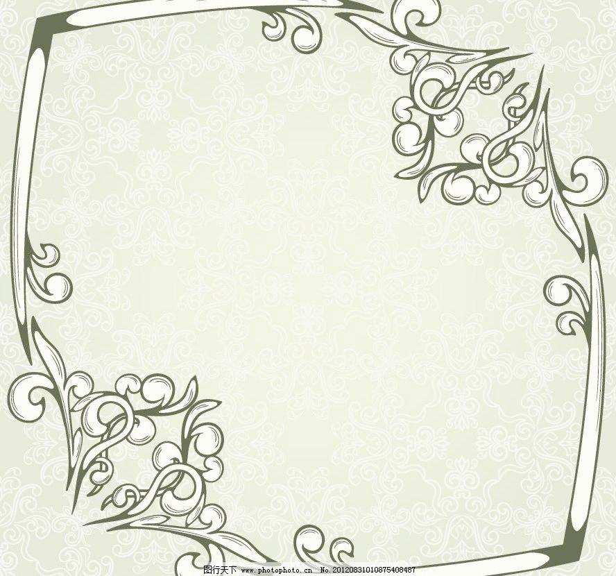 边框模板下载 边框 欧式 古典 花纹 花边 无缝 墙纸 壁纸 米色 古典