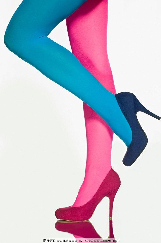 高跟美腿 高跟 美腿 性感 诱惑 美女腿 彩色丝袜 粉红丝袜 蓝色丝袜
