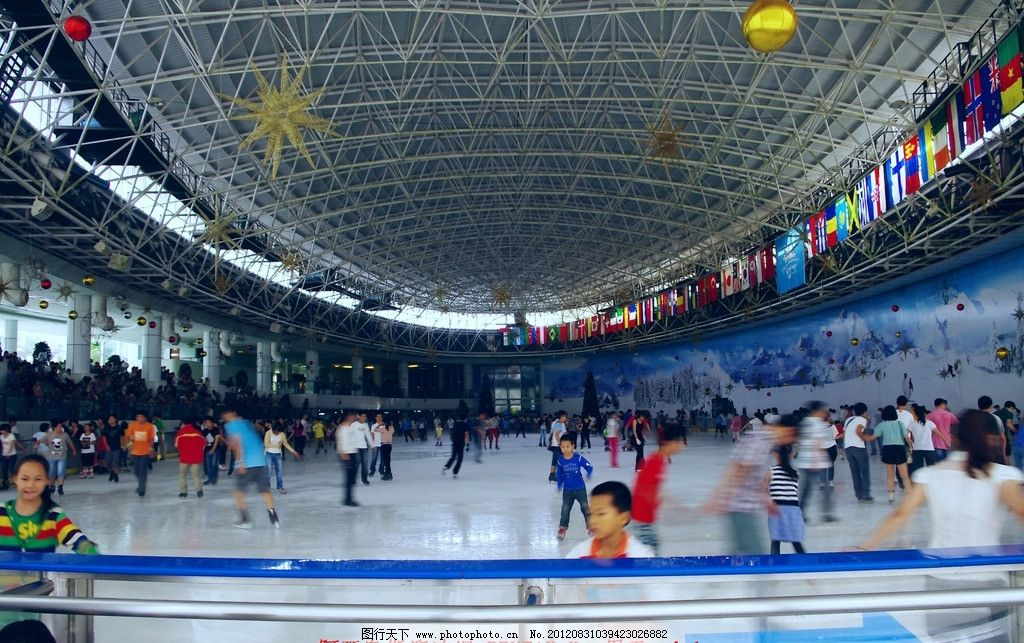 阿尔卑斯溜冰场 深圳 世界之窗 阿尔卑斯 溜冰场 真冰 场馆天花 结构