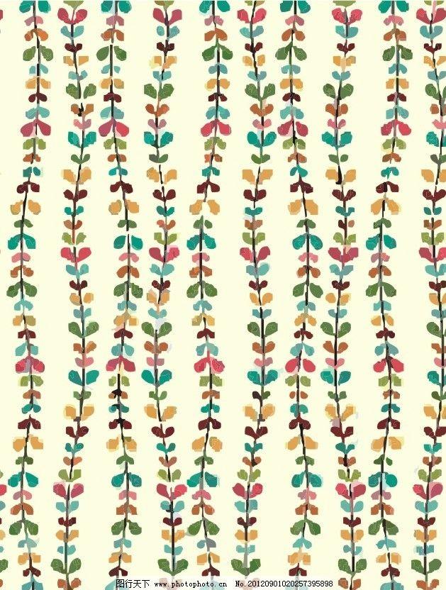 柳条树叶 面料图案 可爱图案 大布图案 印花图案 满印图案 漂亮图案