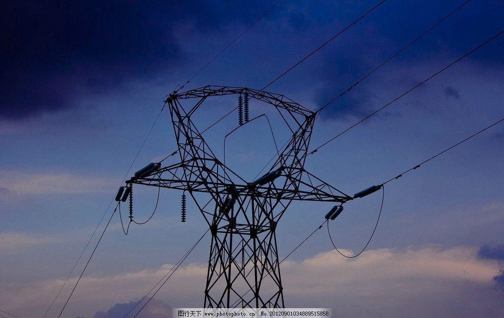 电线 高压电 自然风景 自然景观 摄影 240dpi jpg