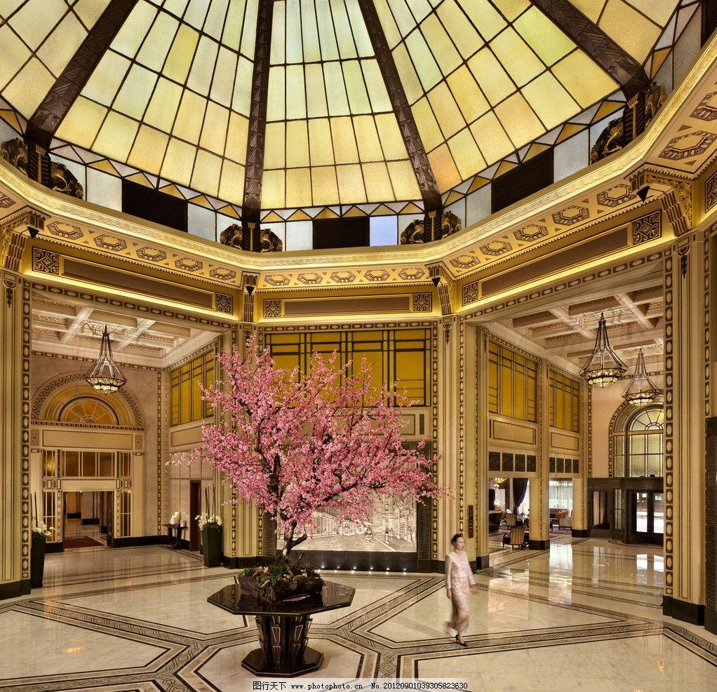 大堂 大厅 过道 欧式 酒店 地板 抛光砖 仿古砖 天花板 美女 拼花
