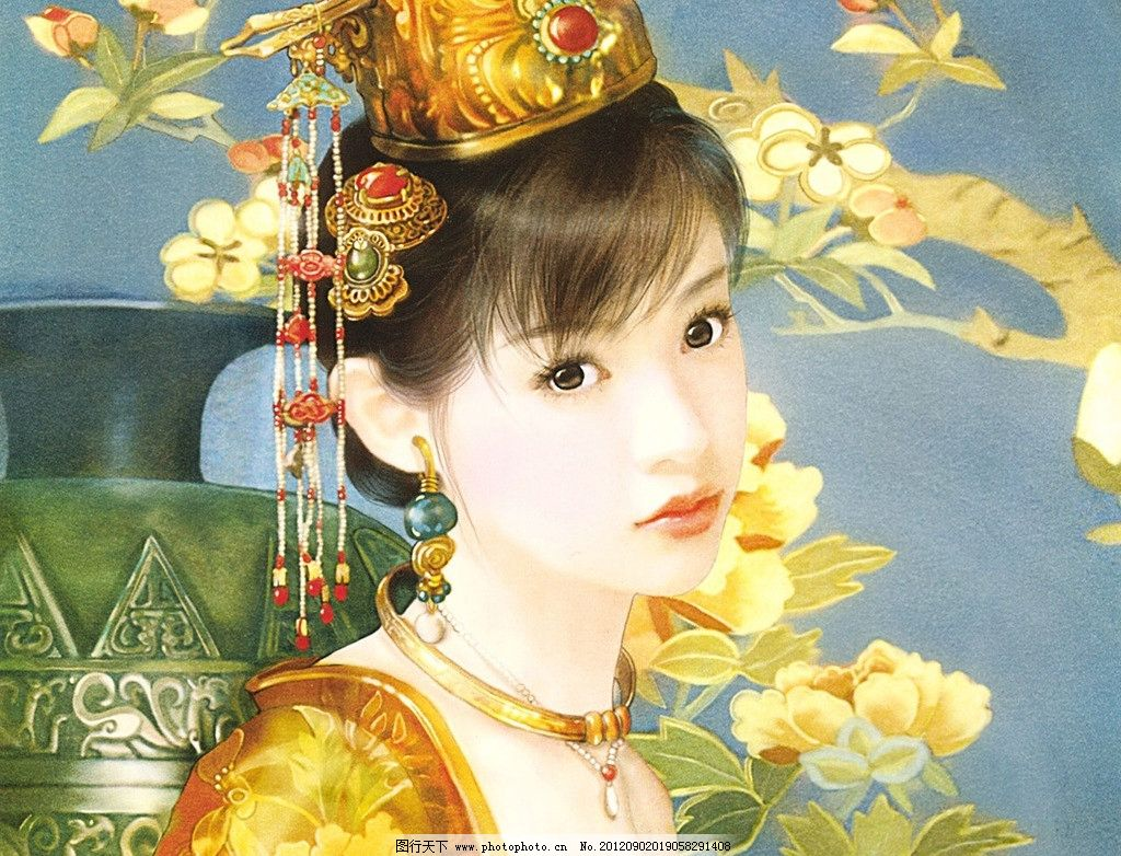 手绘美女 手绘 德珍画集 美女 古典 绘画书法 文化艺术 设计 72dpi jp