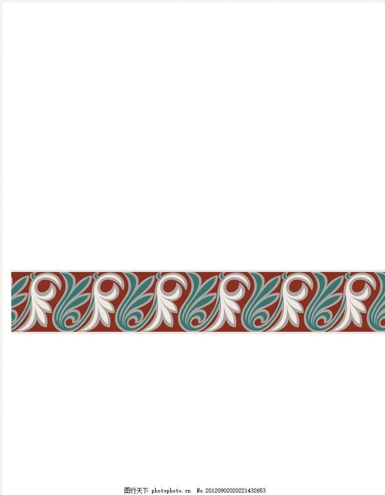 少数民族服饰图案 花边 敦煌花纹 花边背景 花朵边框 设计素材