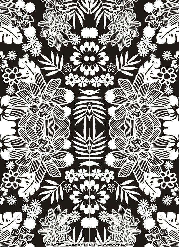 印花图案 满印图案 漂亮图案 花朵图案 底纹背景 底纹边框 矢量 cdr