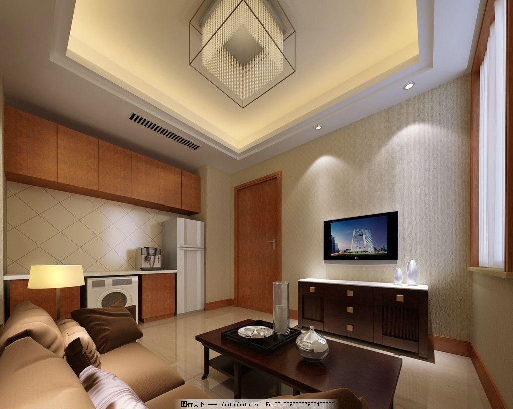 室内效果图      陶瓷效果图 电视背景墙 电视 沙发 冰箱 洗衣机 台灯